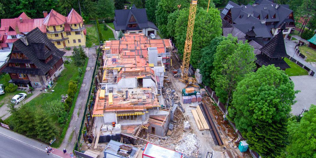 Budowa budynku pensjonatowego w Zakopanem