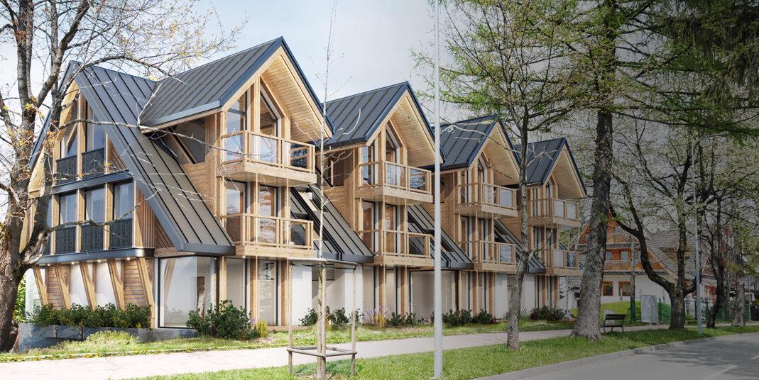 Budowa czterech budynków mieszkalnych jednorodzinnych